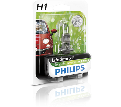 лампа  H-1 12V 55W PHILIPS LONG LIFE ECO VISION