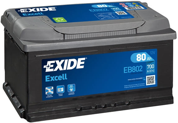 аккумулятор  80A  евро EXIDE EXCELL 700A (315*175*175)