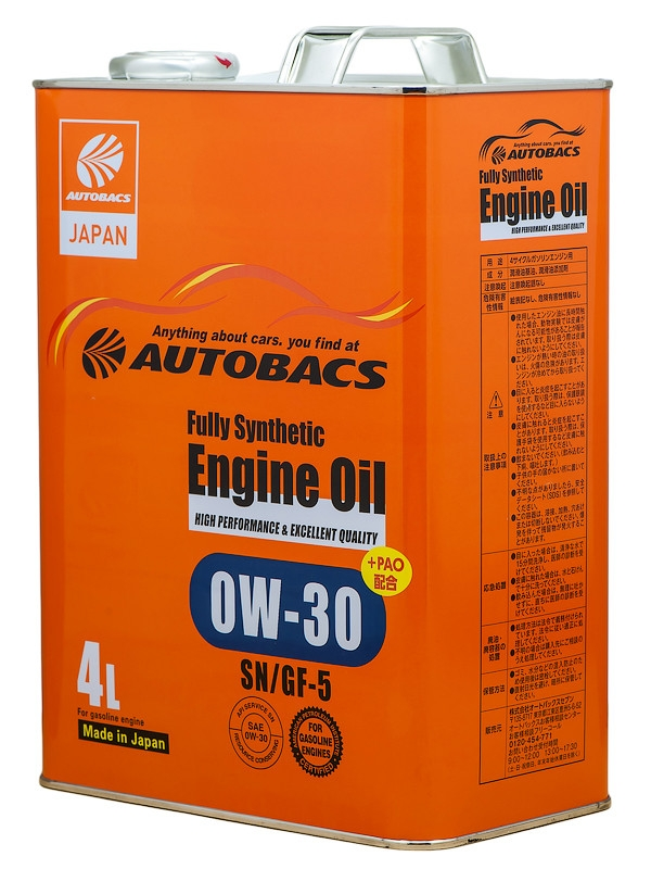 масло AUTOBACS Engine Oil FS 0W-30 4л